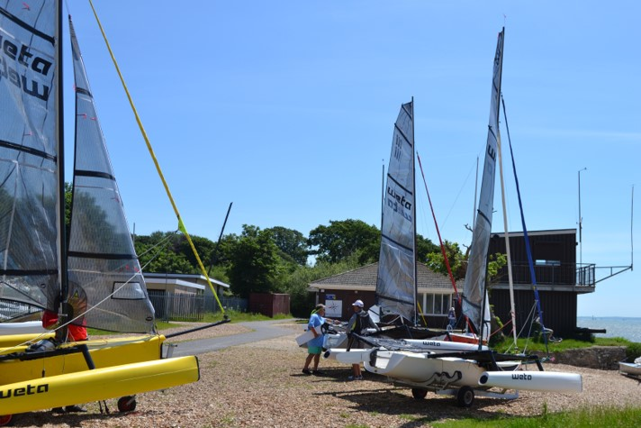 Weta Swarm at Weston Sailing Club